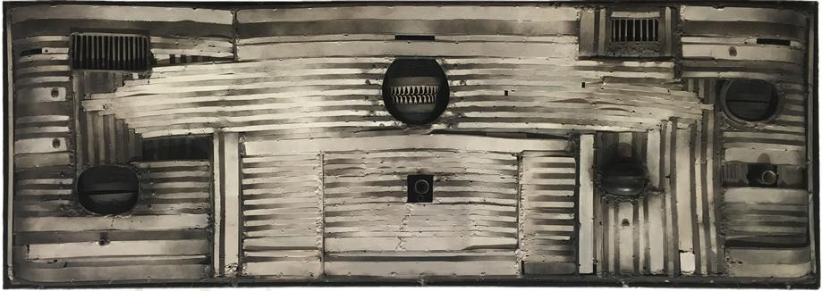 Lee Bontecou, Untitled, 1965 Welded steel, 21 x 60...