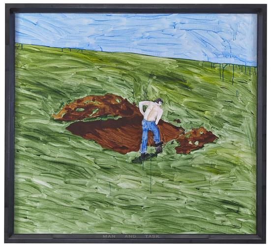 Neil Jenney (b. 1945), Man and Task, 1969, Acrylic...