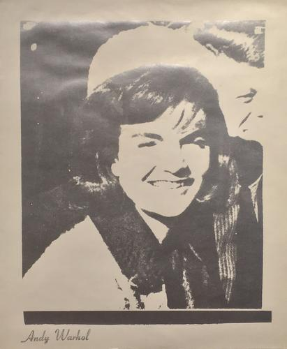 Andy Warhol, Jackie (Unique), 1966, Silkscreen ink...