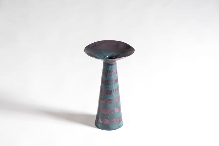 Fungo c. 1965 Glazed polychrome ceramic 15 x 8 1/2...