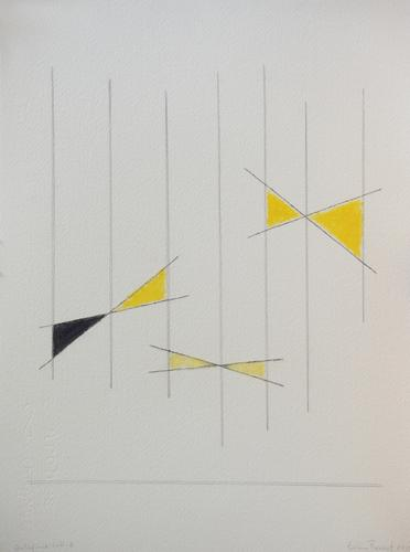Goldfinch Call #2, 2019, Graphite, ink and oil pas...