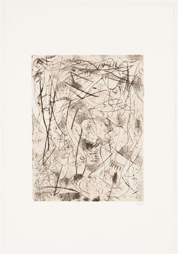 Untitled, ca. 1944-45 Engraving and drypoint Sheet...