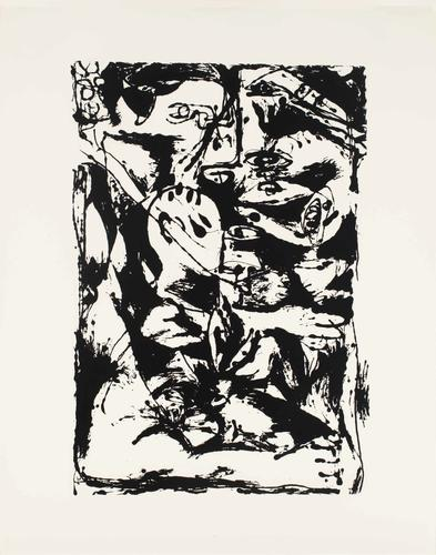Silkscreen (Set of 6: 2 of 6), 1951 Ink on paper S...