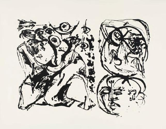 Silkscreen (Set of 6: 3 of 6), 1951 Ink on paper S...