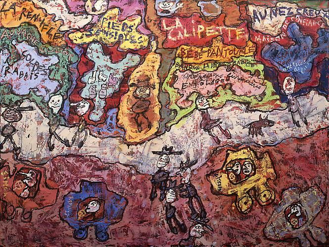 Jean Dubuffet (1901-1985) La Calipette 1961 Oil on...
