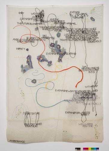 Jessica Rankin, Infinite Descent, 2003, Embroidere...