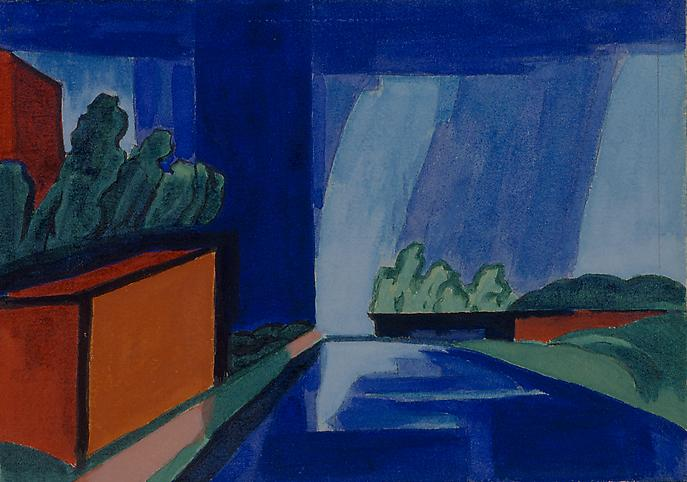 Oscar Bluemner (1867-1938) Canal, Bloomfield, New...