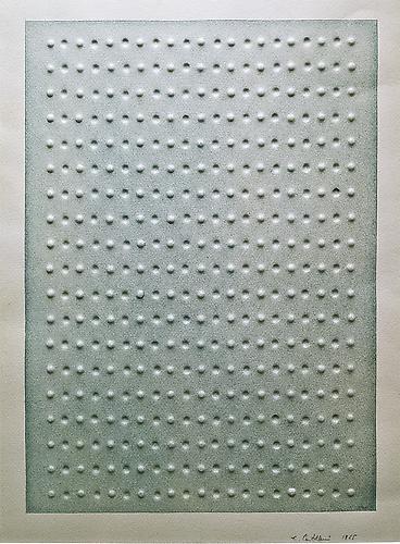 Enrico Castellani (b. 1930) Senza titolo, 1965 Wat...