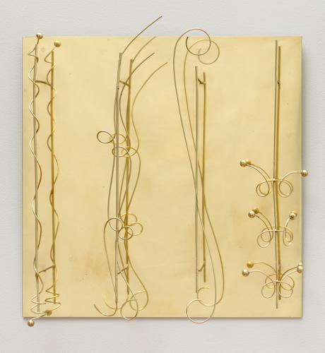 Fausto Melotti, Senza titolo, c. 1973, Brass relie...