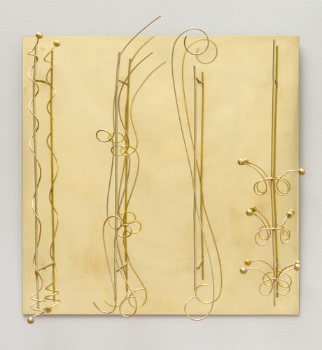 Senza titolo c. 1973 Brass relief 25 9/16 x 23 5/8...