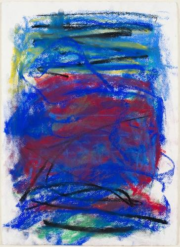 Joan Mitchell, Untitled, 1991, Pastel on paper, 22...