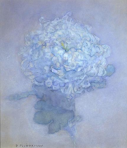 Piet Mondrian (1872-1944) A chrysanthemum c. 1920-...
