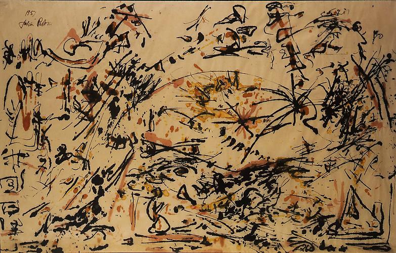 Jackson Pollock (1912-1956) Untitled 1951 Black an...