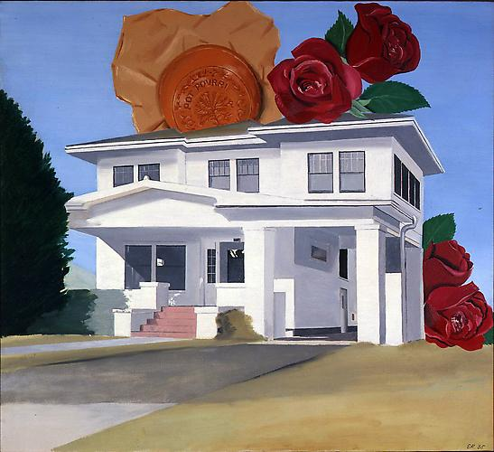 Ed Ruscha (b. 1937) House on 38th Street 1965 Oil...