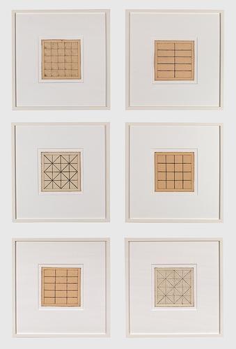 Jan J. Schoonhoven Untitled (Six Drawings),...