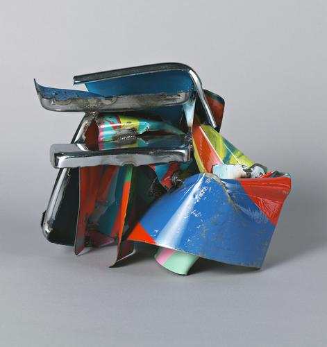 John Chamberlain, Panamapattie, 2007, Painted and...