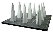 Sol LeWitt (1928-2007) 9 Pyramids on a 9-Part Grid...
