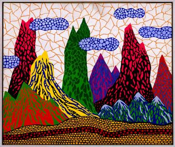 Mountain Country 1986 Acrylic on canvas 15 x 18 in...