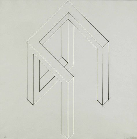 Sol LeWitt (1928-2007) Incomplete Open Cube #2, 19...
