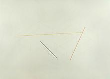 Fred Sandback Untitled, c. 1985 Pencil and pastel...